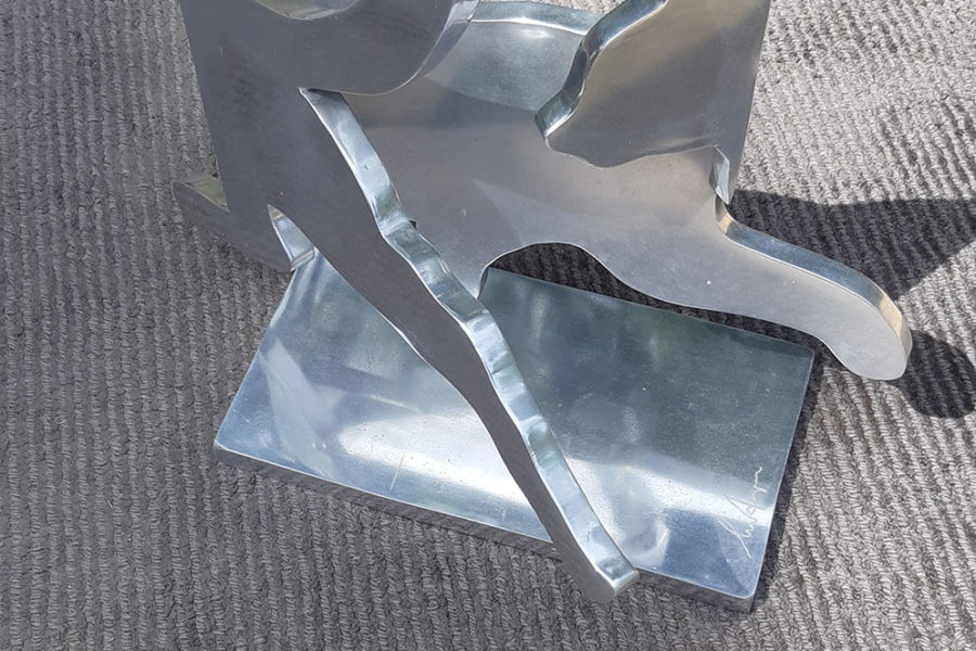 Klaus Meister : Le Chat sculpture en Fonte d'aluminium ex 3/8