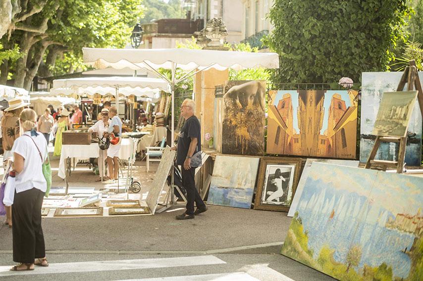 Marché Saint-tropez place des Lices - art shaker